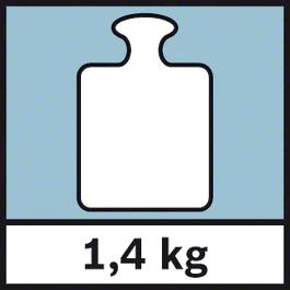 GWM 32 Weight 1,4 kg Gewicht 1,4 kg