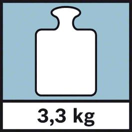 GWM 40 Weight 3.3 kg Weight 3.3 kg