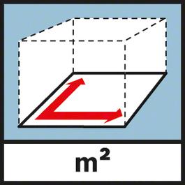 Quadratmeter Flächenmessung