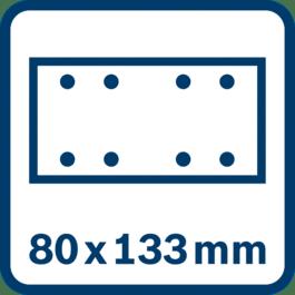Φύλλο λείανσης 80 x 133 mm, 8 τρύπες