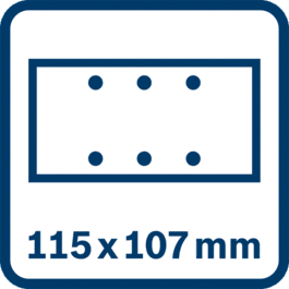 Schleifblatt 115 x 107 mm, 6 Löcher