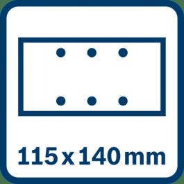 Schleifblatt 115 x 140 mm, 6 Löcher