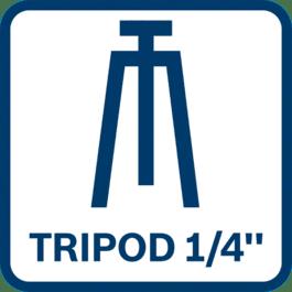 "Tripode compatible 1/4"""