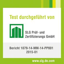 Primer puesto en la prueba de vida útil media y duración media de las escobillas. Certificado por el centro de ensayos y certificación independiente SLG.