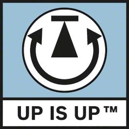 Up is Up Ευθυγραμμίζει την εικόνα στην οθόνη αυτόματα και φροντίζει έτσι για καλύτερο προσανατολισμό