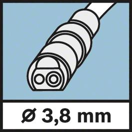 Kameros galvutės Ø 3,8 mm Kameros galvutės skersmuo 3,8 mm