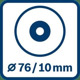 Diamètre du disque 76 mm