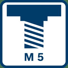 Filetage de la broche de meulage M 5