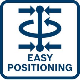 Posicionamento fácil das linhas à volta do ponto de prumada