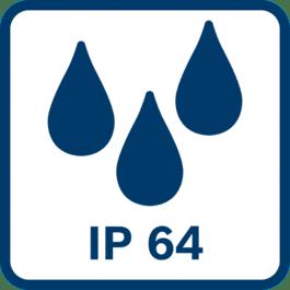 IP-aanduiding 64 Stofdicht en beschermd tegen spatwater