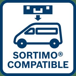 Ricarica rapidamente e guida in sicurezza Perfettamente adatto per sistemi di scaffalature per veicoli SORTIMO certificati dal TÜV e senza adattatore