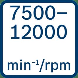No load speed 7500 - 12000 min-1/rpm