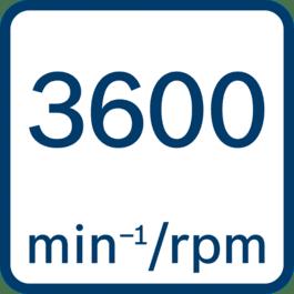 Régime à vide 3 600 tr/min