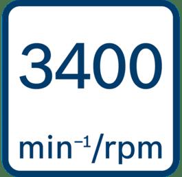 Ταχύτητα χωρίς φορτίο 3.400 στροφές ανά λεπτό