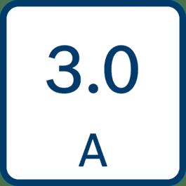 Laadstroom 3,0 A