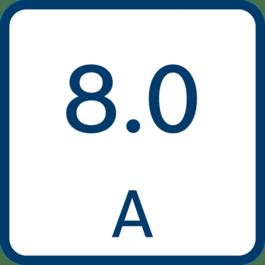Corrente di carica 8,0 A