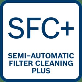 Łatwe i komfortowe czyszczenie filtra poprzez naciśnięcie przycisku na przedniej części węża