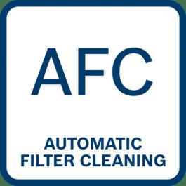 Svært komfortabel og enkel filterrengjøring med automatisk filterrengjøring hvert 15. sekund) og konstant sugeeffekt for kontinuerlig progresjon i arbeidet