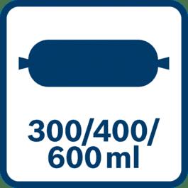 Pussi 300/400/600 ml