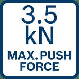 Maks. työntövoima 3,5 kN