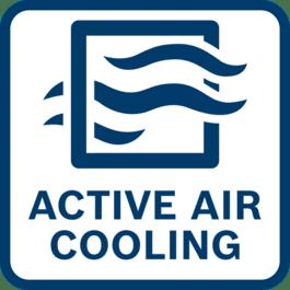 Charge rapide grâce au refroidissement d'air actif