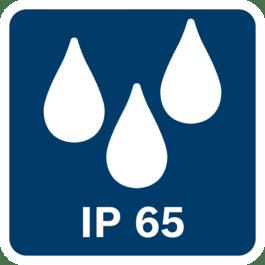 Защита от пыли и струй воды по классу IP65