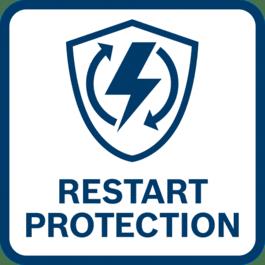 Återstartspärr Förhindrar att apparaten startar automatiskt efter ett strömavbrott.