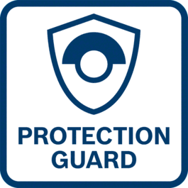 Hervorragender Anwenderschutz dank verdrehsicherer Schutzhaube – standhaft auch bei berstender Scheibe