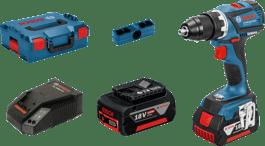 u L-BOXX-u s 2 x 4,0 Ah litij-ionska akumulatora, 1 x kopčom za remen, 1 x držačem bitova, 4 x kopče u boji