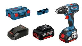 v kovčku L-BOXX z 2 litij-ionskima akumulatorskima baterijama 4,0 Ah, 1 pasno zaponko, 1 držalom za nastavke, 4 barvnimi zaponkami