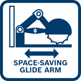 Compact slide mechanism due to innovative, maintenance-free and extremely robust glide arm