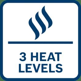Trois niveaux de chaleur pour un confort optimal par temps froid