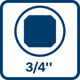 Inserción de la punta cuadrada, portapuntas, cuadrado exterior