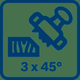 Αυλάκια 3V για εύκολη λοξότμηση σε διάφορα βάθη