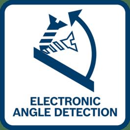 Funzione Electronic Angle Detection: aiuta l'utilizzatore ad avvitare o forare in superfici inclinate ad un'angolazione specifica. L'utilizzatore può scegliere fra una gamma di angolazioni predefinite, oppure inserire un'angolazione specifica tramite l'app