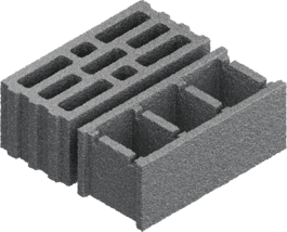 Bloc de construction en béton