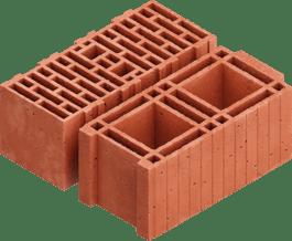 Poroton bouwsteen