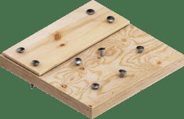 Holz mit Nägeln