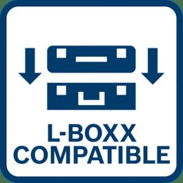 Empreinte L-BOXX permettant d'empiler sans risque de glissement des coffrets L-BOXX les uns sur les autres
