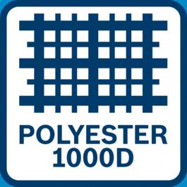 Le sac est réalisé dans un matériau très résistant (polyester 1000D)
