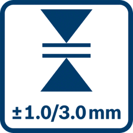 Mätnoggrannhet ± 1,0/3,0 mm