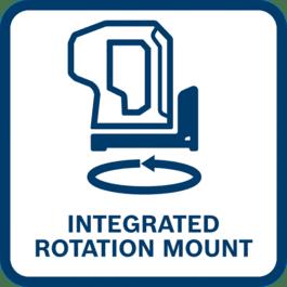 Attacco rotante integrato
