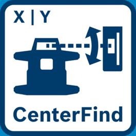 Lāzers ar CenterFind funkciju atrod uztvērēja centru un aprēķina esošo slīpumu