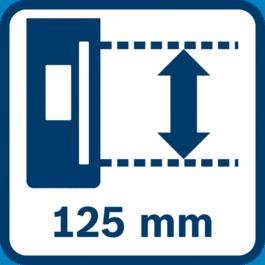 Liels uztveršanas laukums 125 mm