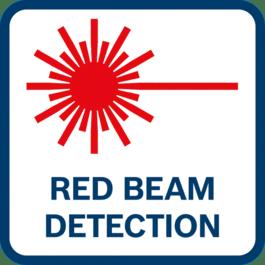 Detección de haz rojo