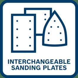 Interchangeable Sanding Plate System