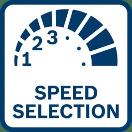 Résultats parfaits avec présélection de vitesse Résultats parfaits grâce à la présélection de vitesse pour les applications nécessitant une vitesse adaptée au matériau