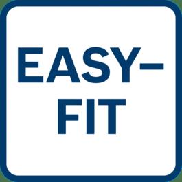 Retenção perfeita do papel em rolo ou do papel autoaderente graças ao sistema Easy-Fit com tensionamento automático do papel