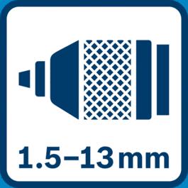 Metāla urbjpatrona 1,5 - 13,0 mm