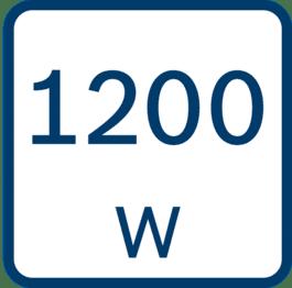 Nominelt effektoptag 1200 W